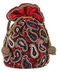 Ahankara Womens Potli (Red Multi) (AMPU0000007)