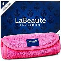 Toallita desmaquillantes reutilizables La Beauté – Toalla para cara ecológicas y lavables – Toalla de microfibra para limpieza facial - 40 x 18 cm – Rosa - 1 unidad