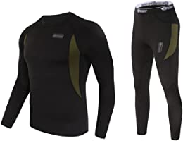 UNIQUEBELLA Thermounterwäsche Funktionswäsche Herren Skiunterwäsche Winter Suit Ski Thermo-Unterwäsche Set Thermowäsche Unterhemd + Unterhose