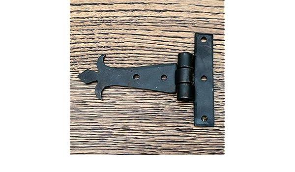T-Scharniere//T-Scharnier FD Schwarz//Vintage 10,2 cm Schmiedeeisen