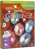 Eierfarbe 3 Stück Glitzer Ei