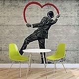 Banksy Graffiti Betonwand - Forwall - Fototapete - Tapete - Fotomural - Mural Wandbild - (2898WM) - M - 104cm x 70.5cm - VLIES (EasyInstall) - 1 Piece