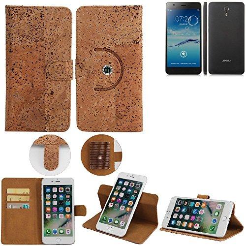 K-S-Trade Schutz Hülle für Jiayu S3 Advanced Handyhülle Kork Handy Tasche Korkhülle Schutzhülle Handytasche Wallet Case Walletcase Flip Cover Smartphone