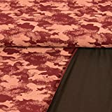 French Terry Stoff Camouflage Muster weinrot 180 cm breit