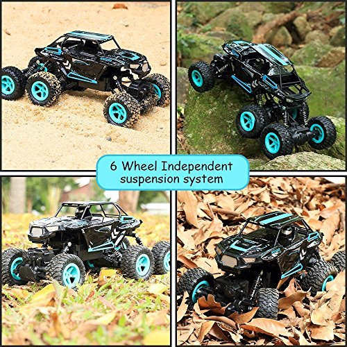RC Auto, 1:14 RC Ferngesteuertes Auto Remote Control Car Rock Crawler 6WD Elektrische Hoher Geschwindigkeit Monster Truck RC Buggy/Off Road Fahrzeug - 4
