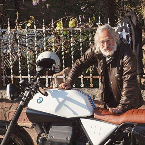 Motorradjacke Australian Bikers Gear Trailmaster Classic Vintage, braun, aus Leder, gewachst, behandelt, Größe 3XL