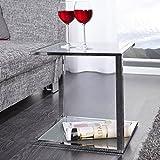 DuNord CUBETTO - Tavolino da salotto funzionale, in vetro smerigliato, cromato