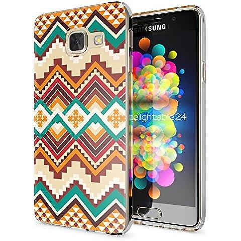 delightable24 Caso Case de la Cubierta de TPU Silicona SAMSUNG GALAXY A3 (2016) Smartphone - Indian Pattern