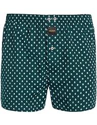 """Mailando Herren Boxershorts """"Royal"""" 100% Baumwolle American Web Boxer in weiss, schwarz, grün, blau und braun"""