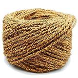 MW.Shop.24 Kokosseil 100% BIOLOGISCH Breite : 10 mm - 50m - Baumanbinder aus Kokosfaser - ungefärbte Naturfaser
