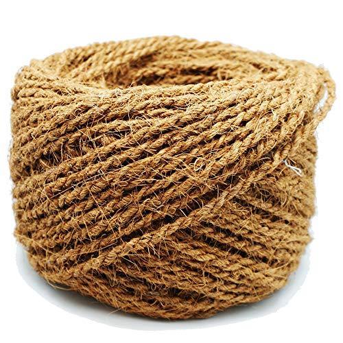MW.Shop.24 Kokosseil 100% BIOLOGISCH Breite : 10 mm - 25m - Baumanbinder aus Kokosfaser - ungefärbte Naturfaser -