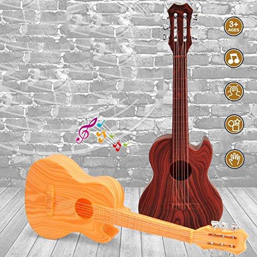 Beautyrain 4 Strings Musical Spielzeug aus Plastik Ukulele Kleiner britischer Stil Kindergitarre