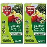 SBM Protect Garden GARDOPIA Sparpaket: 2 x 25 g Lizetan Raupen- & Zünslerfrei Buchsbaumzünslerfrei + Gardopia Zeckenzange mit Lupe
