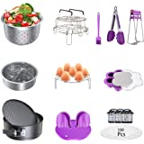 Instant Pot Accessories Set, Pressure Cooker 17 Pieces Kit Compatible with 5/6/8Qt Steamer Baskets Springform Egg Rack Oven M