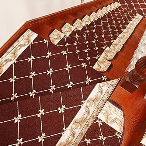 QKR&Bel tappeto, Gratis autoadesive tamponi in gomma Continental scala scale tappetini antiscivolo scala mat mat mat personalizzato (1 caricato, 5 caricati, 10 caricato) moquette Camera ( colore : 1 Pcs-F Section , dimensioni : 24cm*64cm )