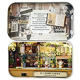 Oshide Schön Puppenhaus Mit Licht Mini Haus Mini Welt in der Box Kinder Weihnachten Geschenk(Cafeteria)