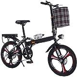 GHGJU Fiets aluminium ul tra licht vouwen fiets verschuiven schijfremmen kleine fiets geschikt voor bergwegen en regen en sne