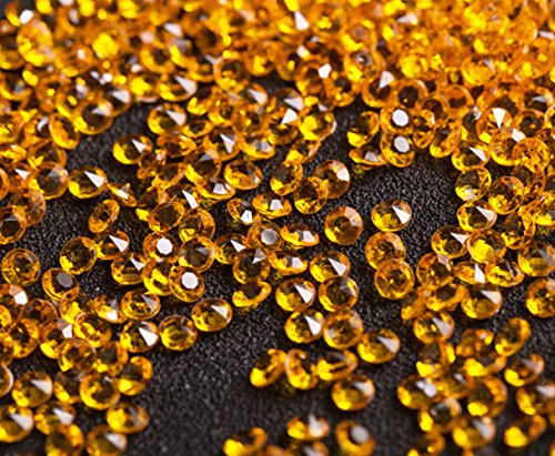 EXQUILEG 1000 Stücke Wedding Table Streuung Kristalle Deko Diamanten, 12mm Künstliche Acryl Diamanten Tisch Dekoration für Hochzeit Geburtstag Baby Dusche Party (Gold)