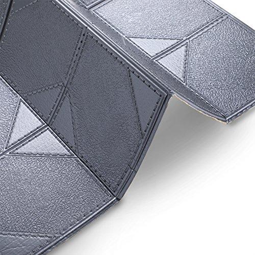 3D Ziegel Tapete, PE Fliesen Wandaufkleber Stereo Wandtattoo Papier Abnehmbare selbstklebend Tapete für neues Haus Dekoration Wohnzimmer modernes TV-Schlafzimmer, 5 Stücke, Silber Grau, 60cm x 60cm
