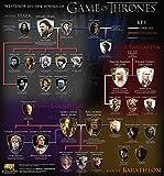 Der Museum Steckdose Charts von–Game Of Thrones Baum–A3Poster Druck