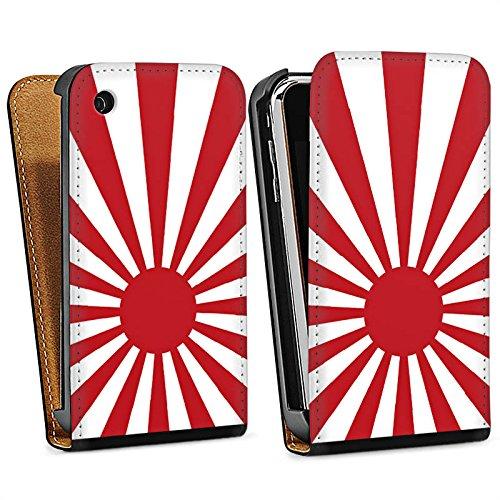 Apple iPhone 5s Housse étui coque protection Marine Japon Japon Drapeau Sac Downflip noir