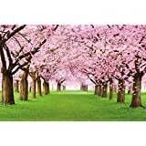 Albero di ciliegio FOTOMURALE - bosco con alberi di ciliegio - primavera rosa carta da parati quadro - alberi bosco decorazione da parete by Great Art 336 cm x 238 cm