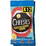 Cheesies - Snack de Queso Crujiente, Queso de Cabra. Sin Carbohidratos, Alto en Proteínas, Sin Gluten, Vegetariano, Ceto. que