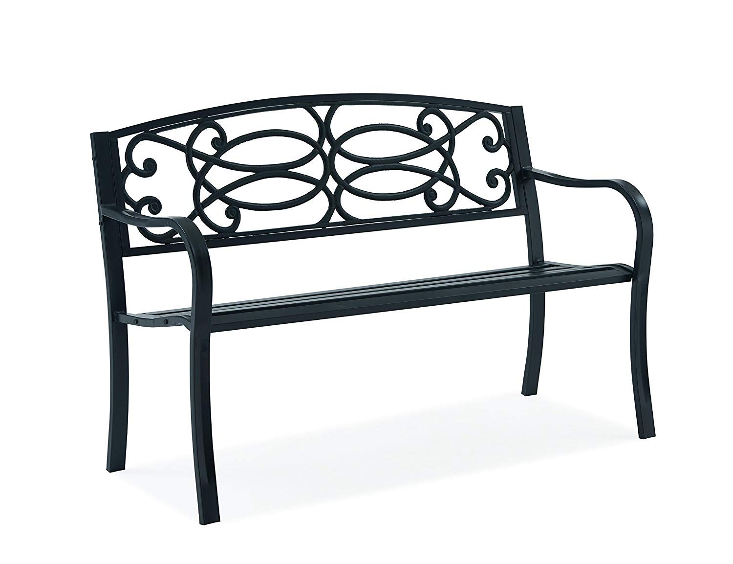 Sensational Fineway Stylish 2 Seater Cast Iron Garden Outdoor Back Park Pabps2019 Chair Design Images Pabps2019Com