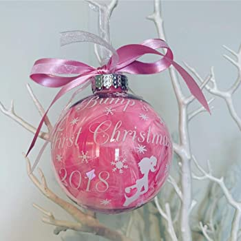 6f190c2978651 Luxury Handmade Feather Filled Personalised Bump's 1st Christmas Bauble, First  Christmas Bauble for Baby Bump, Pregnancy Bauble, First Christmas Pregnant,  ...