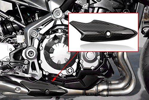 XX ecommerce Motorrad Prepreg Echte Karbonfaser Schalldämpfer Auspuff Hitze Shield Cover Trim Kaminabdeckung Verkleidung für Kawasaki Z9002017