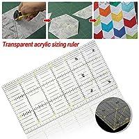 Regla de remiendo de acrílico transparente tela regla de corte herramienta de costura de bricolaje, 30x15 cm