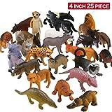 Figuras de Animales, Set de 25 Animales de Juguete de Aspecto Realista...