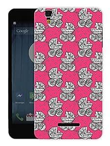 "Humor Gang Baby Pram Stroller Cute Printed Designer Mobile Back Cover For ""Yu Yureka Plus"" (3D, Matte Finish, Premium Quality, Protective Snap On Slim Hard Phone Case, Multi Color)"