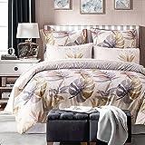 Die besten Gemütliche Bettwäsche Tröster Sets - UNAOIWN Mikrofaser Bettbezug Set 3Stück Tröster Quilt Cover Bewertungen