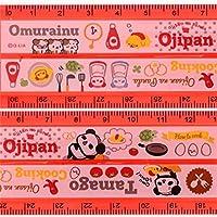 Q-Lia cute semi-transparent length adjustable ruler with Ojipan panda, ingredients etc.