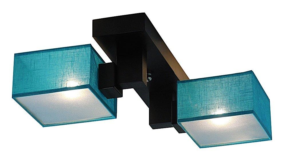 deckenlampe deckenleuchte lampe leuchte barsa 008 c stoff mit blenden ebay. Black Bedroom Furniture Sets. Home Design Ideas