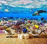 Fototapete Korallenriff mit Fische Vlies Tapete Wandtapete - Tapete - Moderne Wanddeko - Wandbilder - Fotogeschenke - Wand Dekoration wandmotiv24 Größe: XL 350 x 245 cm - 7 Teile - Vlies