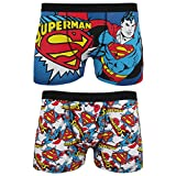 DC Comics Superman Herren Boxer Shorts (2 er Packung) (L) (Mehrfarbig)
