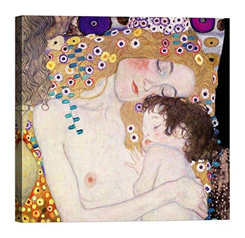 LuxHomeDecor GUSTAV KLIMT Le Tre età della donna 30x30 cm Quadro stampa su tela con telaio in legno
