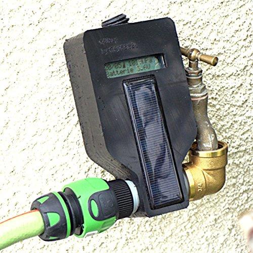 Programmateur d'arrosage connecté WiFi solaire avec electro-vanne et régulation météo