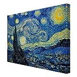 Bilderwelten Leinwandbild - Vincent Van Gogh - Sternennacht - Quer 3:4, HxB: 75cm x 100cm