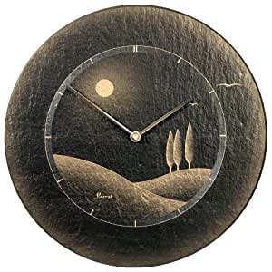 Vaerst 2659 orologio da parete al quarzo in ardesia - Ardesia per cucinare ...