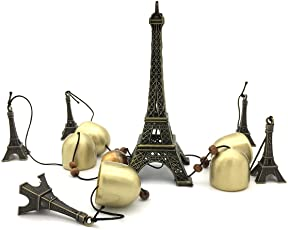 Mohangifts Paris Eiffel Tower Brass Copper Wind Chimes