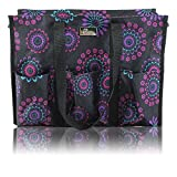 Best Beach Bags For Moms - Medium , Purple Circle : Pursetti Zip-Top Organizing Review