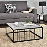 [en.casa]® Couch-Tisch Design MDF - Beton-Optik - 75x75x30cm - Beistelltisch Wohnzimmer