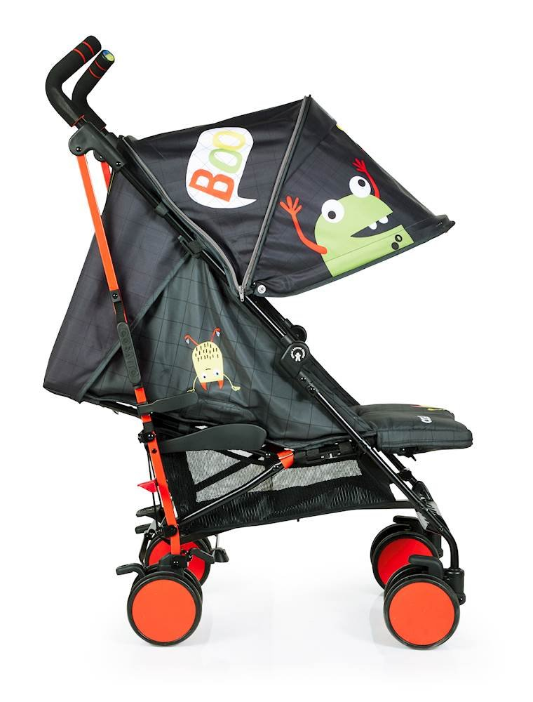 Cosatto Supa 2018 Baby Stroller, Suitable from Birth to 25 kg, Monster Mob Cosatto Suitable from birth up to 25 kg stroller; umbrella fold lightweight aluminium chassis with carry handle and folded free-standing feature For added comfort Supa 2018 has an integral upf100+ extended hood; one handed four position seat recline and adjustable calf support Supa 2018 has everything you need: Spacious storage basket, co-ordinating fleece lined footmuff, reversible washable liner, chest pads and recent born head hugger, rain cover and handy cup holder 3