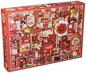 Cobblehill 80146 - Puzzle (1000 Piezas), Color Rojo