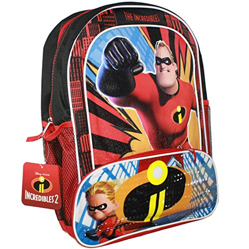 Disney Pixar The Incredibles 2 Movie Dash and Mr. Incredible Book Bag for Back to School - 16 Inches