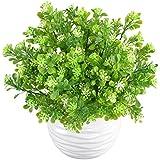 MIHOUNION 4 trames artificielle Plastique plantes Aglaia Odorata Lour Evergreen arbustes d'extérieur résistant aux UV Subtropicales Vert buissons Home Garden Table Décor floral Arrangement