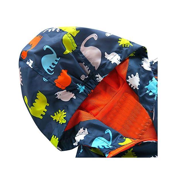 HARVEY JIA - Chaqueta Corto de Bebés Niños con Capucha Mentener Calor Abrigo de Niñas con Estampado Dinosaurio de Otoño… 4